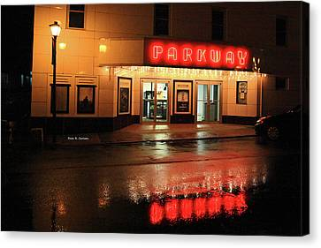 Parkway Night Canvas Print