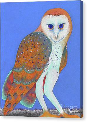 Parliament Of Owls Detail 1 Canvas Print by Tracy L Teeter