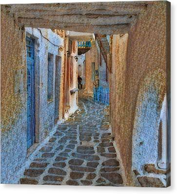 Canvas Print featuring the photograph Paros Beauty Island Greece  by Colette V Hera Guggenheim