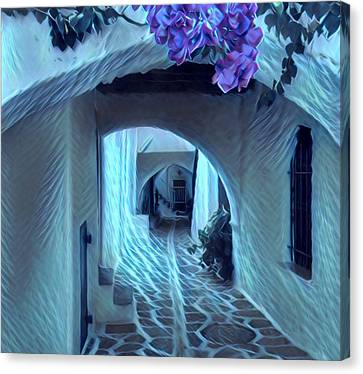 Canvas Print featuring the photograph Paros Island Beauty by Colette V Hera Guggenheim