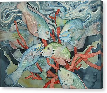 Parromania Canvas Print by Liduine Bekman