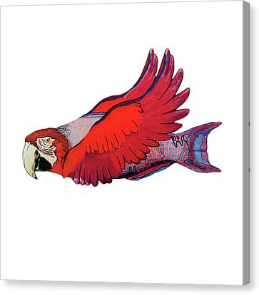 Parrot-fish Canvas Print by Mone Ehlers