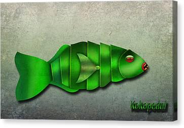 Parrot Fish  The Metal Aquarium  Canvas Print