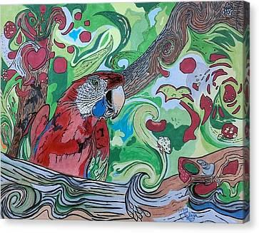 Parrot Kaleidoscope  Canvas Print by Tony Clark
