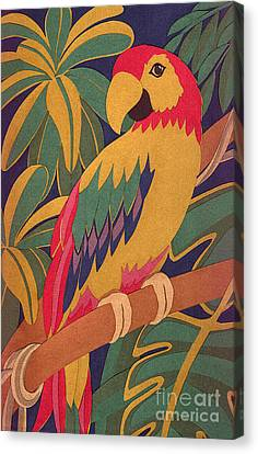 Parrot Canvas Print by Lucyna A M Green