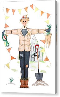 Parson Scarecrow Canvas Print by Sandra Moore