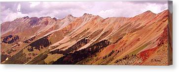 Canvas Print featuring the photograph Part Of The San Juan Mountains Colorado by Roena King