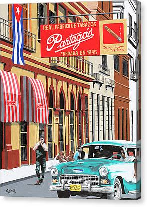 Partagas Cigar Factory Havana Cuba Canvas Print by Miguel G