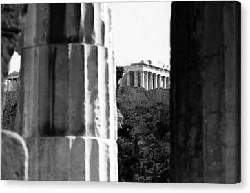 Parthenon From The Temple Of Hephaistos Athens Canvas Print by Susan Chandler