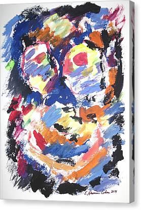 Partial Blackout Canvas Print by Esther Newman-Cohen