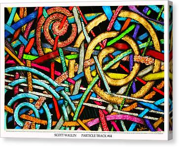 Particle Track Forty-four Canvas Print by Scott Wallin
