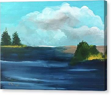 Partly Cloudy Skys Canvas Print