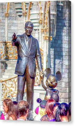 Canvas Print featuring the photograph Partners Statue by Mark Andrew Thomas