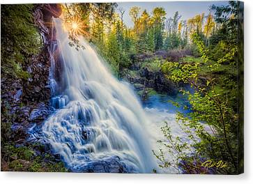 Canvas Print featuring the photograph Partridge Falls In Late Afternoon by Rikk Flohr