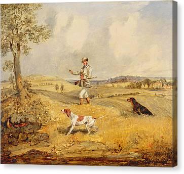 Partridge Shooting  Canvas Print
