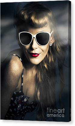Wavy Canvas Print - Party Fashion Pin Up by Jorgo Photography - Wall Art Gallery
