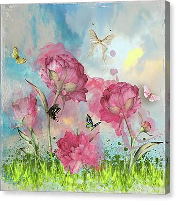 Party In The Posies Canvas Print