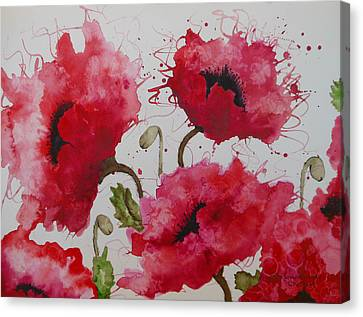 Party Poppies Canvas Print