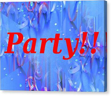 Party Canvas Print by Tim Allen