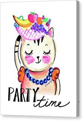 Celebration Canvas Print - Party Time by Ashley Lucas