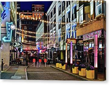 The Queen Of Bourbon Street Canvas Print - Party Time In Cleveland by Frozen in Time Fine Art Photography