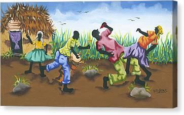 Partying Canvas Print by Herold Alveras