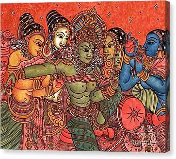 Parvati's Wedding Canvas Print by Susanna Fields-Kuehl