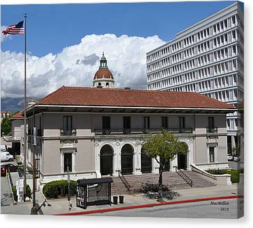 Pasadena's Plaza Station Post Office Canvas Print