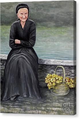 Pasqualina Di Scanno Canvas Print by Judy Kirouac