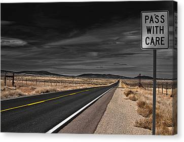 Pass With Care Canvas Print by Atom Crawford