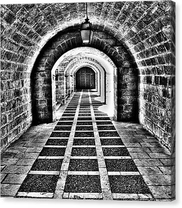 Passage, La Seu, Palma De Canvas Print by John Edwards