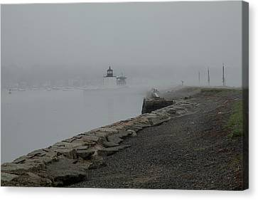 Canvas Print featuring the photograph Passing In The Fog by Jeff Folger