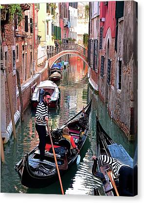 Gondola Ride Canvas Print - Passing Lane by Frozen in Time Fine Art Photography