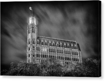 Passing Storm At The Emily Morgan Hotel Canvas Print