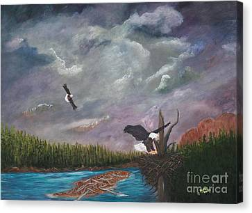 Passing Storm Canvas Print by Myrna Walsh