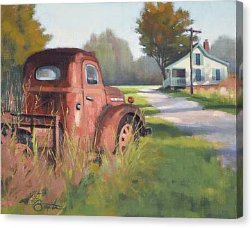 Passing Through Red Oak Canvas Print by Todd Baxter