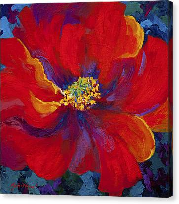 Passion - Red Poppy Canvas Print by Marion Rose