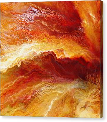 Abstract Art On Canvas Print - Passion - Abstract Art - Triptych 1 Of 3 by Jaison Cianelli
