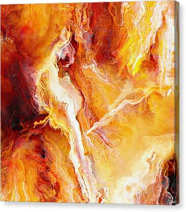 Print On Canvas Print - Passion - Abstract Art - Triptych 2 Of 3 by Jaison Cianelli