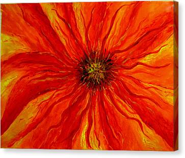 Canvas Print featuring the painting Passion Flower by Arlene Holtz