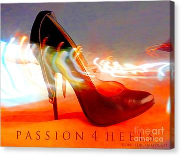 Canvas Print featuring the photograph Passion For Heels by Don Pedro De Gracia