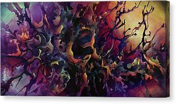 Random Shape Canvas Print - Passion by Michael Lang
