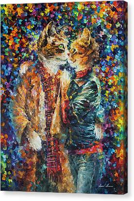 Passion Of The Cats  Canvas Print by leonid Afremov