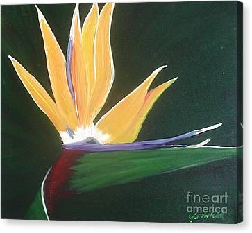 Passion Unfolding 3 Canvas Print by Lori Jacobus-Crawford