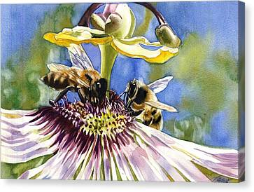 Passionate Bee Canvas Print by Alfred Ng