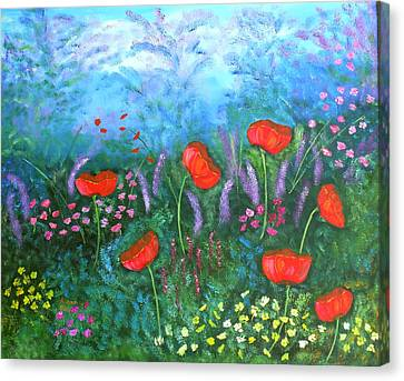 Passionate Poppies Canvas Print by Alanna Hug-McAnnally