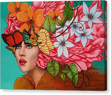Face Canvas Print - Passionate Pursuit by Helena Rose