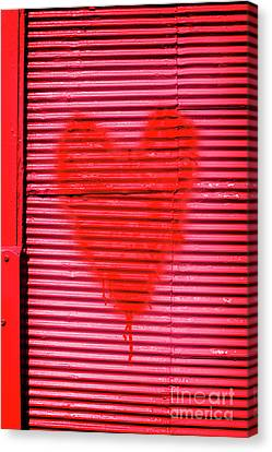 Passionate Red Heart For A Valentine Love Canvas Print