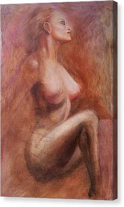 Passionate Woman Canvas Print by Elizabeth Silk