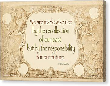Past And Future- Quote Canvas Print by Italian Art